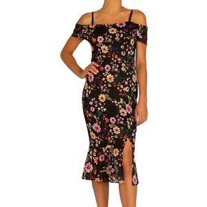 GUESS Floral-Print Midi Dress